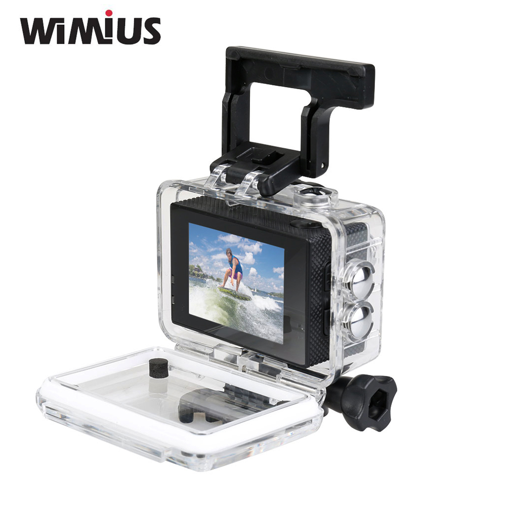 Wimius Action Camera WiFi Sports Full HD 1080P 30fps Mini Video Helmet Cam 170 degree Wide Angle Car DVR Go 30M Pro Waterproof eken mini sports action cameras h9 h9r wide angle 4k 25fps hd video helmet cam 2 0 go underwater pro vr go pro cameras