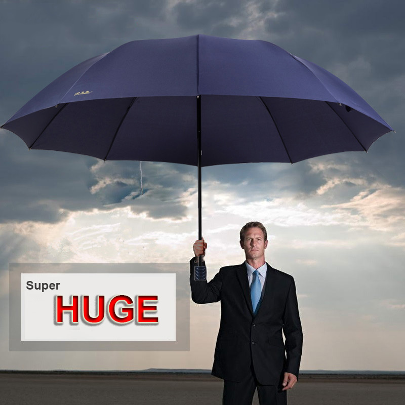 Extra <font><b>Big</b></font> Three Folding Rain Sun <font><b>Umbrella</b></font> Windproof Men Women Parasol Male <font><b>Golf</b></font> Beach Huge <font><b>Umbrella</b></font> Corporation Dropshopping image