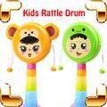 Nova Vindo Presente Chocalho Do Bebê Tambor Tambor de Mão Brinquedo Da Música Para Crianças Jogo Brinquedos Educativos Instrumento Musical de Percussão Crisp Agitando