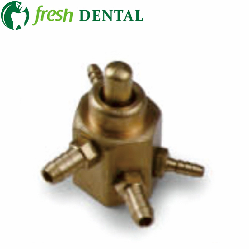 One PC Dental foot valve circular pedal swicth valve 4 holes foot spool foot control switch valve dental equipment SL1216