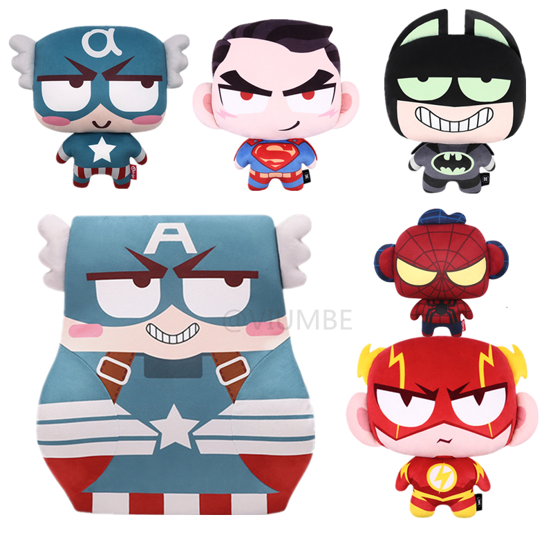 Marvel Cartoon Car Headrests Pillow Neck Avengers Captain Batman Memory Foam Cute Seat Lumbar Support For Waist Cushion Office