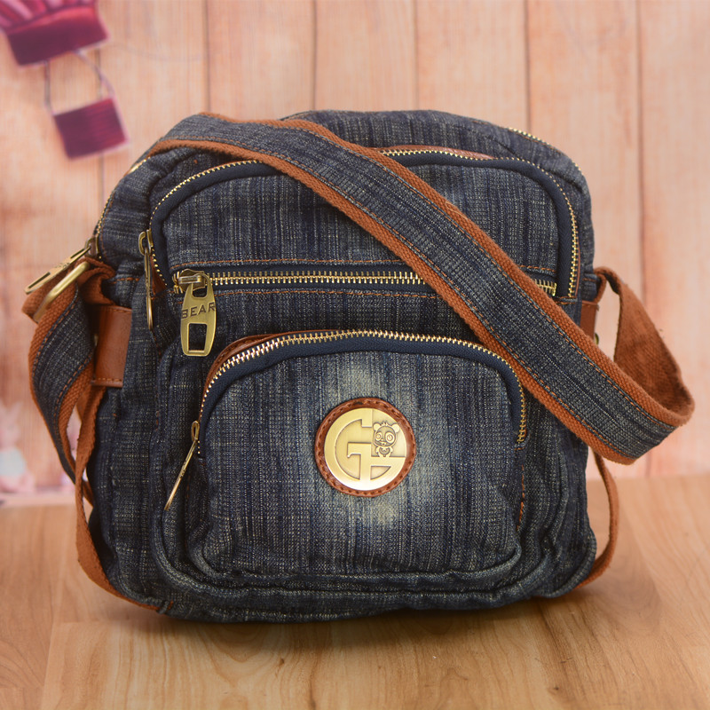 Casual Small Square Denim Bag For Woman Designer Leisure Blue Jeans Bags Female Shoulder Bag Crossbody For Travel