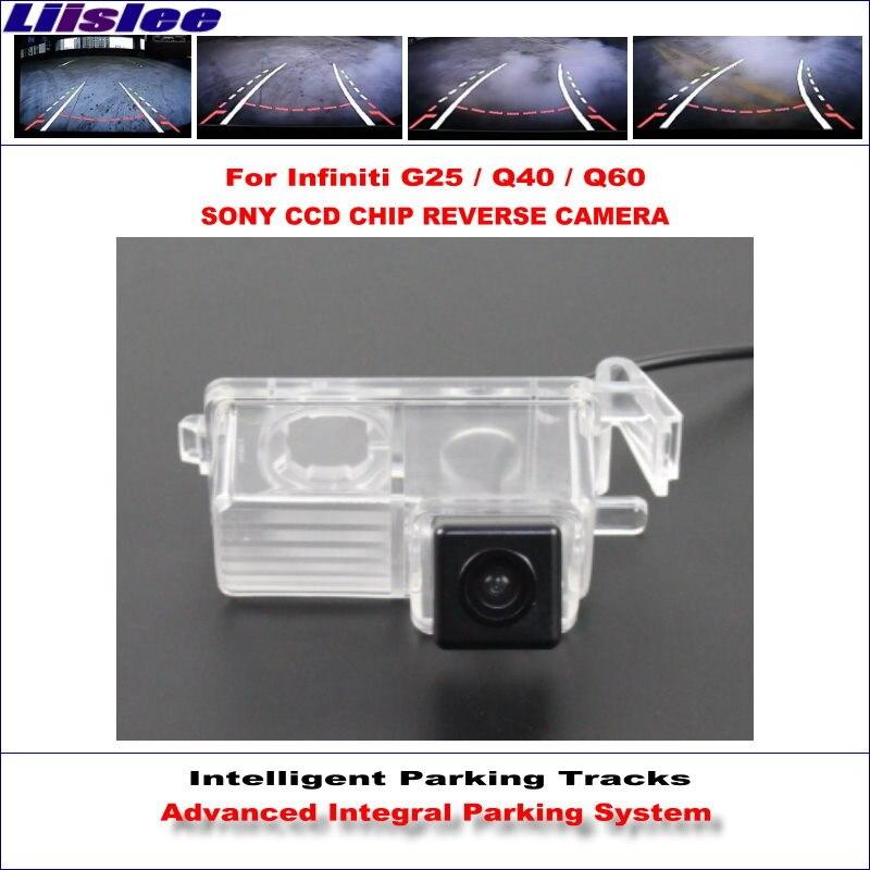 Liislee Rear Camera For Infiniti G25 / Q40 Q60 Intelligent Parking Tracks Backup Reverse Dynamic Guidance Tragectory