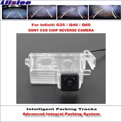 Liislee Rear Camera For Infiniti G25 / Q40 / Q60 Intelligent Parking Tracks Backup Reverse / Dynamic Guidance Tragectory