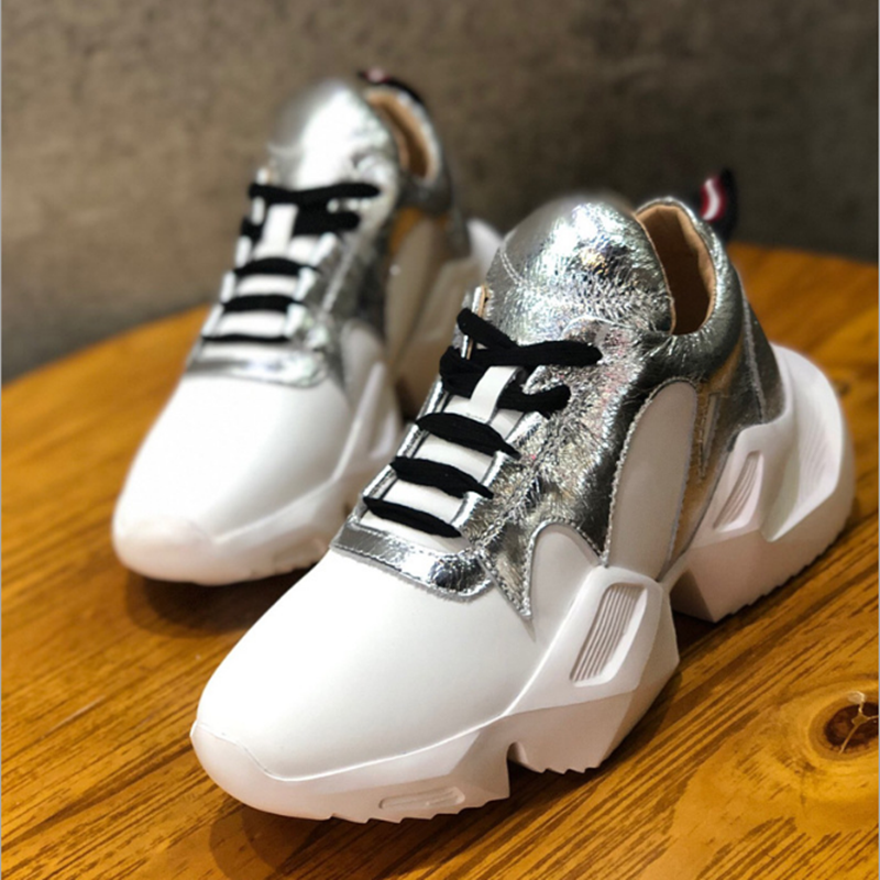 New women s shoes 2019 spring autumn sneakers women fashion soft comfortable Genuine Leather casual shoes