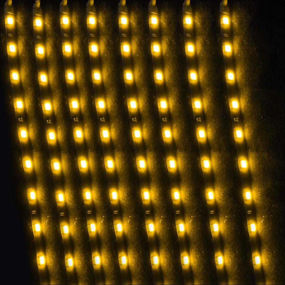 EE suporte 8 Pcs 15 LED 12 V 30 CM Luzes Grill Flexível À Prova D - Faróis do carro - Foto 3