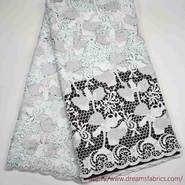 Latest High Quality 100% Swiss Design Pure white Cord lace Fabric ...