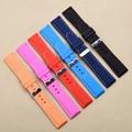 1 unids buzos mens correa de reloj de caucho de silicona a prueba de agua correa de reloj 18mm 20mm 22mm 24mm rojo azul marino negro orange