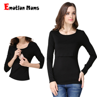 Emotion Moms Autumn Long Sleeve Pregnancy Maternity Clothes Breast feeding Tops For Pregnant Women Nursing Top Maternity T-shirt