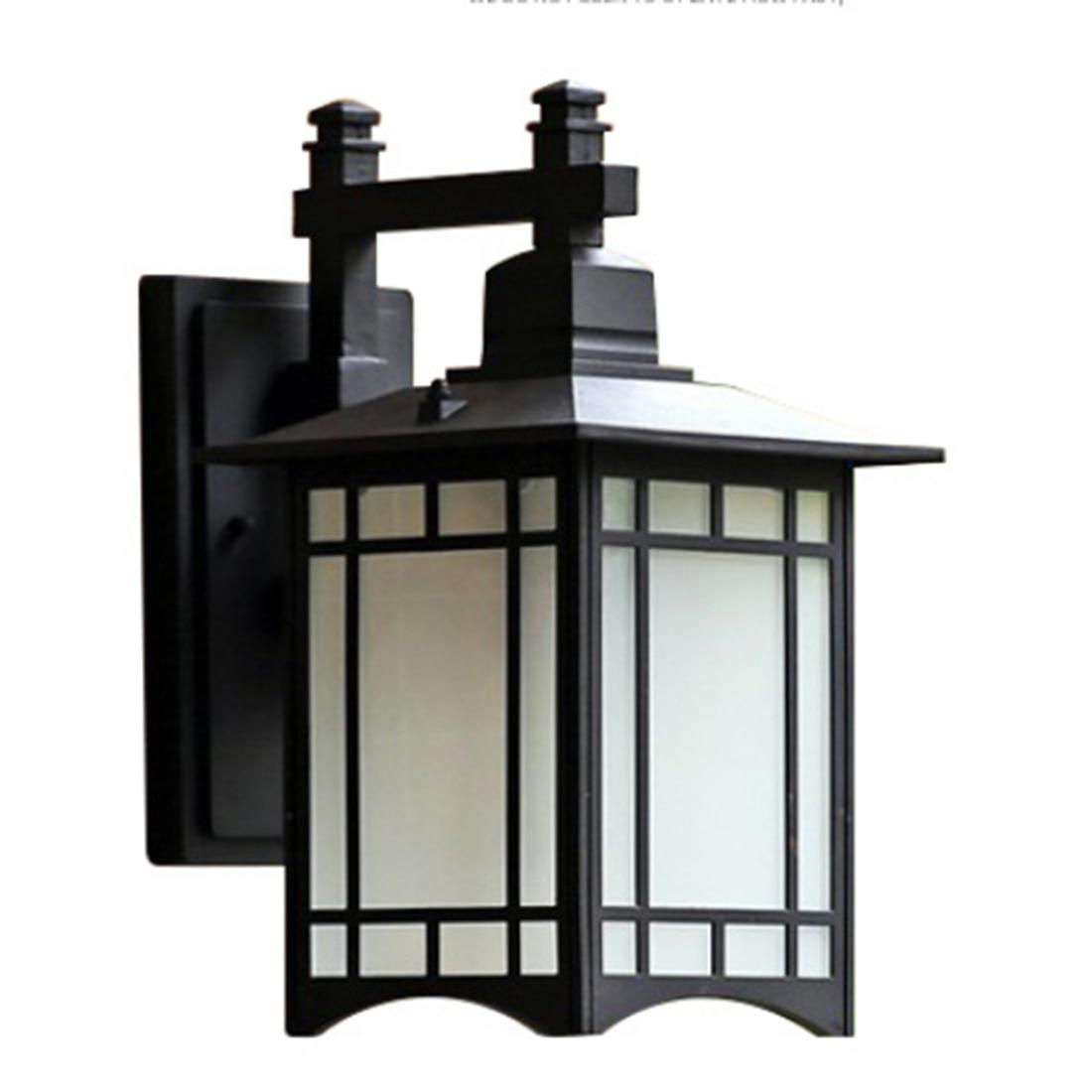Modern Simple Outdoor Garden Wall Lamp Cover Creative Villa Garden Balcony Corridor Wall Lamp(No Light Source) - Black S