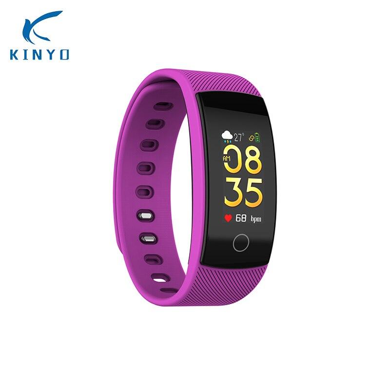 2018 nouveau QS80 PLUS Smart bracelet coeur taux de tension artérielle d'oxygène smart bande étanche bluetooth photo sport bracelet femmes