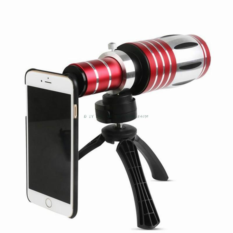 Optical 50X Zoom Aluminum Telephoto Telescope Lens + Tripod Back Case For iPhone 6 6s 6s Plus For Samsung S9 S6 S5 S4 Note 4