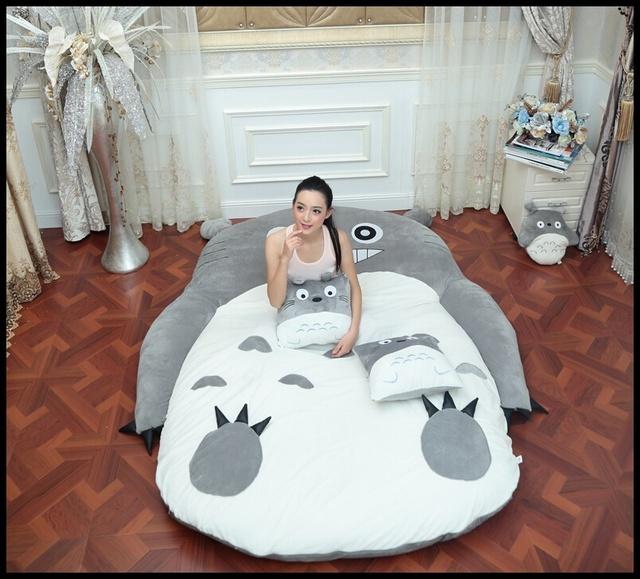 170x220 cm EE.UU. Diseño Totoro Sofá Cama Colchón de la Cama de Gran Tamaño Con Un Precioso Animal Adulto