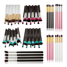 HUAMIANLI Brand High Quality Makeup Set Brush 10pcs/Set Facial Powder Eye Silhouettes Brush Handle Makeup Set Tools Various Uses