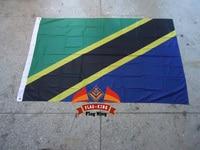 Tanzania National Flag 100 Polyster Tanzania Country Banner Digital Printing 120 180CM Size