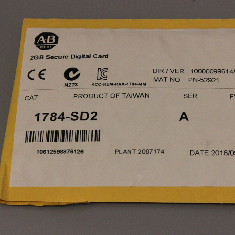 1784-SD2 1784SD2 Allen-Bradley,NEW AND ORIGINAL,FACTORY SEALED,HAVE IN STOCK allen bradley 1762 ow16 new and original factory sealed have in stock