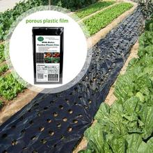 95cm*10m 5Holes 0.03mm Garden Vegetable Black Film Agricultural Plants Film Plastic Perforated PE Mulch Film Mulching Membrane # 52in mulch kit for everride 99241000