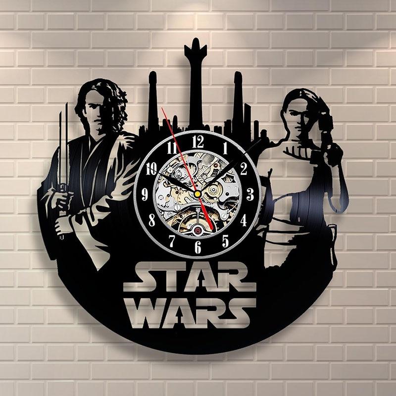 Anakin Skywalker Padme Amidala Star Wars Schallplatte Uhr Home Design Zimmer Kunst-dekor Handmade Vintage