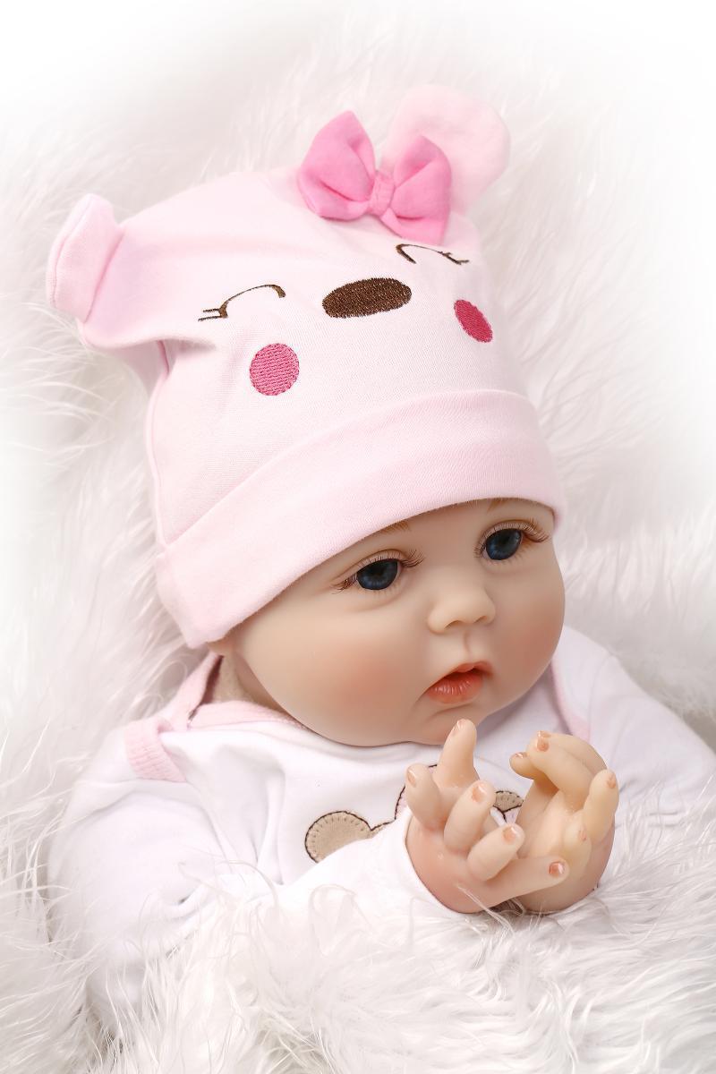 Doll Baby D032 55CM 22inch NPK Doll Bebe Reborn Dolls Girl Lifelike Silicone Reborn Doll Fashion Boy Newborn Reborn Babies