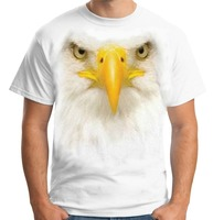 Summer Style Fashion Velocitee Mens Eagle Head White T Shirt Big Bird Animal Face A17698 Men