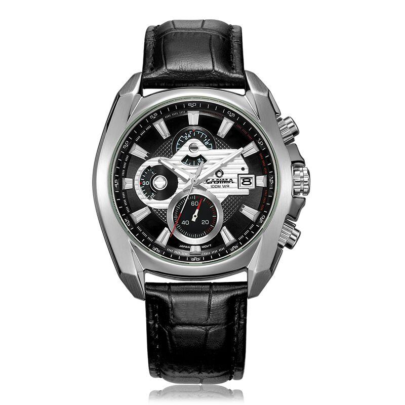 Montre fashion leather watch date men 39 s display business attire watches quartz luxury brands for Casima watches
