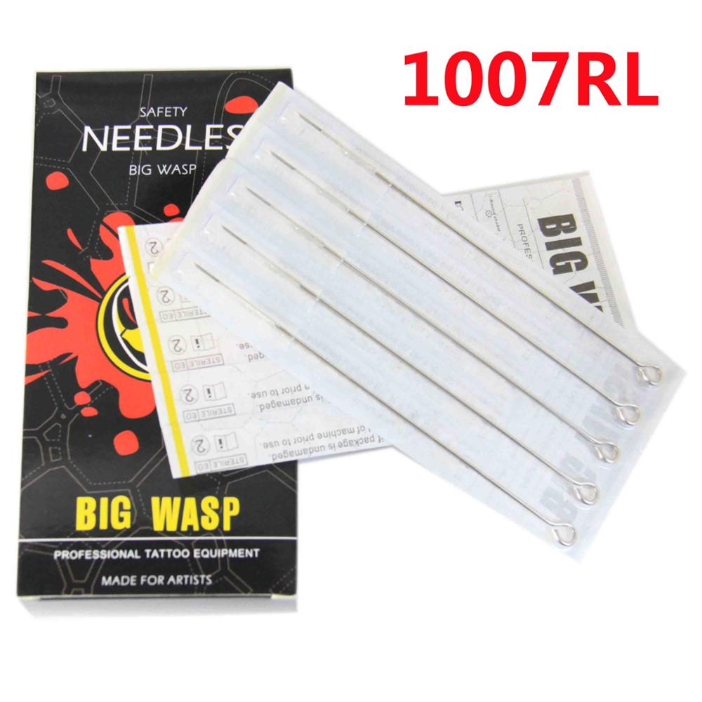 BIGWASP Premium Quality Tattoo Needles 7 Round Liner (7RL) Disposable & Sterilized - 50pcs/box