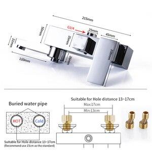 Image 5 - מקלחת ברז 3 פונקציות מקלחת מיקסר. קיר רכוב אמבטיה ערבוב שסתום ברז מיקסר ברז. אמבטיה מיקסר ברז כרום סיים
