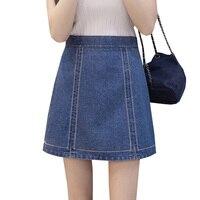 Spring Summer Slim High Waist Skirts 2017 New Women Denim Skirt School Student Girl Vintage Bodycon