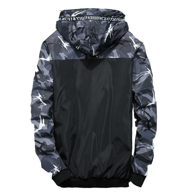 Grandwish Men's Jackets Camouflage Military Hooded Coats Casual Zipper Male Windbreaker Men Brand Clothing Plus Size 6XL ,DA903