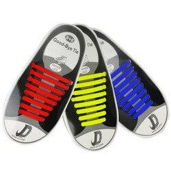 Cadarços elásticos preguiçosos do silicone de 16 pces nenhum laço running das sapatilhas cordões da sapata