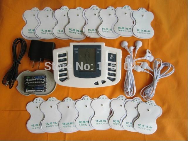 Электрический стимулятор для всего тела, массажер для расслабления мышц, импульсная терапия, акупунктура + 16 подушечек, русский или Engliah Key, JR-309