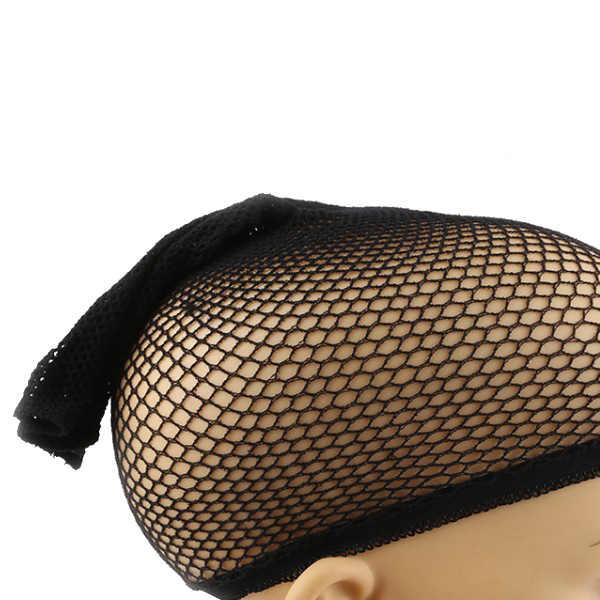 Beste Elastische Perücke Kappe Top Haar Perücken Fishnet Liner Weben Mesh Stocking Net für Frauen Männer QQ99