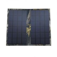 1x Wama 6W Solar Panel cells Water Resistant Folding Bag USB Charging