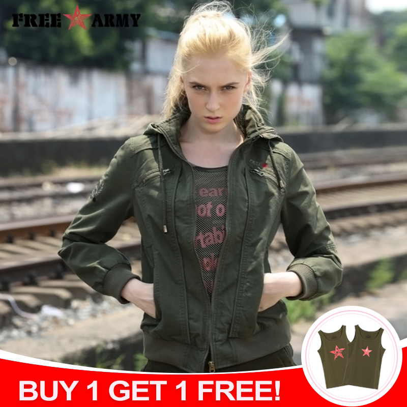 Brand Quality Hooded Women Jacket Spring Autumn Jackets Women Fashion Ladies Short Jacket Green Bomber Jackets Outwear Female