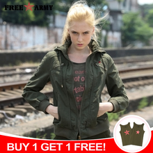 Short Jacket Green Outwear Hooded Spring Fashion Women Ladies Female Quality Brand