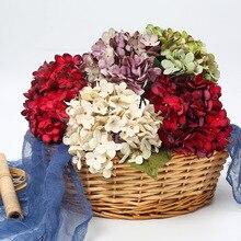 1 Uds Artificial de seda jarrón con adorno floral ramo de la boda de Vintage nupcial decoración de hortensias realista hermosa flores