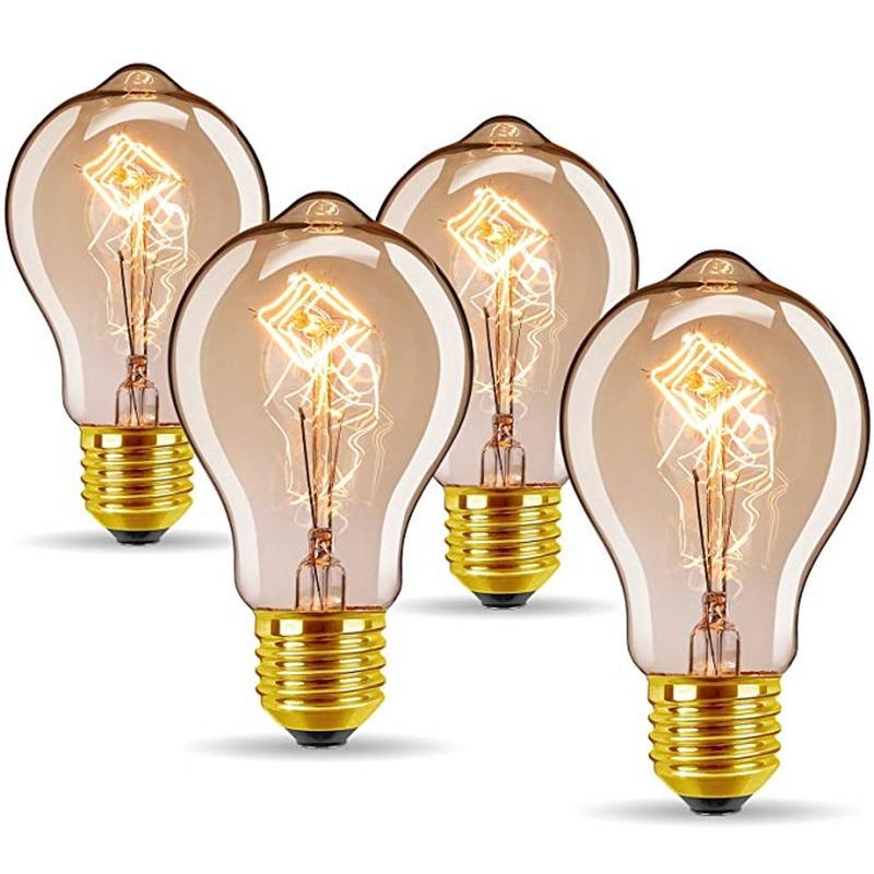 4 pçs lote Edison Lâmpada Dimmable A19