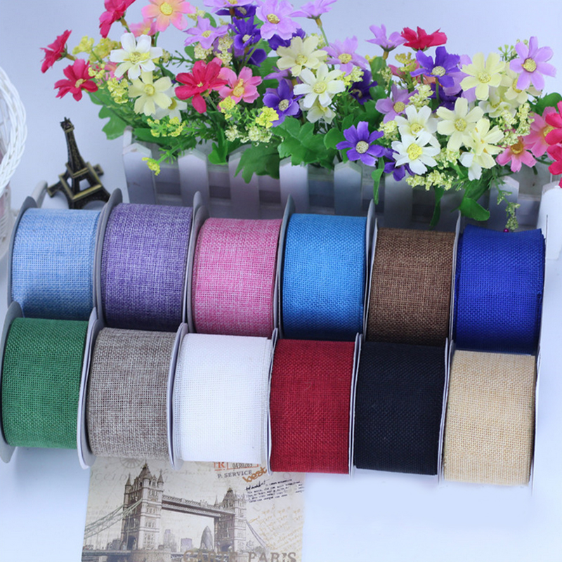 10meter 6cm wide Linen Ribbon DIY Handmade Materials, Wedding Gift Wrap,diy Holiday Flowers Decoration Crafts Accessories HB005