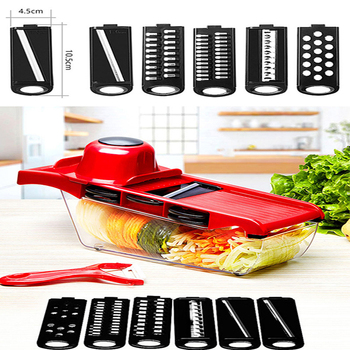 New 5 in 1 Multi-function Grater Chopper Potato Grater Kitchen Tool Chopper Stainless Steel Vegetable Cutter image