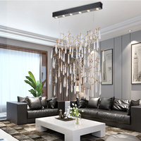 Phube Lighting Copper Branches Chandeliers Coloured Glaze Chandelier Light Used in Living Room Staircase Bar Salon