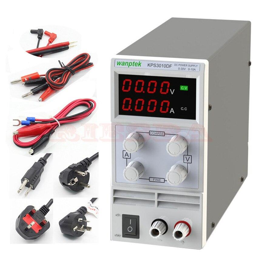 wanptek KPS305DF 4 Digits LED DC Power Supply 0-30V/0-5A 110V-230V 0.1V/0.001A Digital Adjustable rps3020d 2 digital dc power adjustable power 30v 20a power supply linear power notebook maintenance