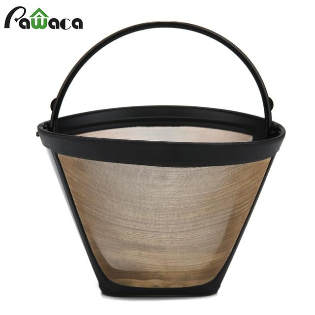 Nón-Phong Cách Tái Sử Dụng Cà Phê Lọc 10-12 Cup Vĩnh Viễn Máy Pha Cà Phê Lọc Vàng Lưới với Xử Lý Quán Cà Phê cà phê Công Cụ