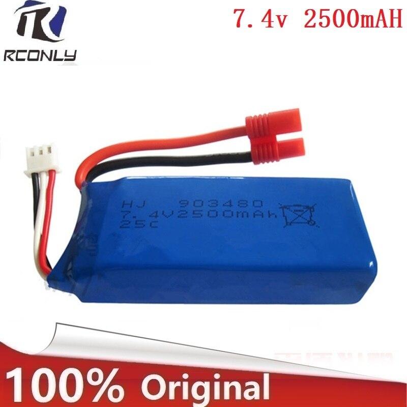 2500 mAh 7,4 V batería para Syma x8c X8G Quodcopter piezas batería extra de repuesto juguetes 25c con protección 903480