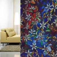 0.92x10m 3D Static Window Film Decorative for Home Office Privacy Protective Statined Glass