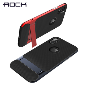 Image 4 - TPU+PC For iPhone X Case Original Rock Royce Holder Series Kickstand Anti knock Protection Case For iPhone X 10 Phone Back Cover