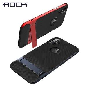 Image 4 - TPU + מחשב לאייפון מקרה X מחזיק רויס רוק מקורי סדרת Kickstand הגנה אנטי דפיקה מקרה עבור iPhone X 10 טלפון בחזרה כיסוי