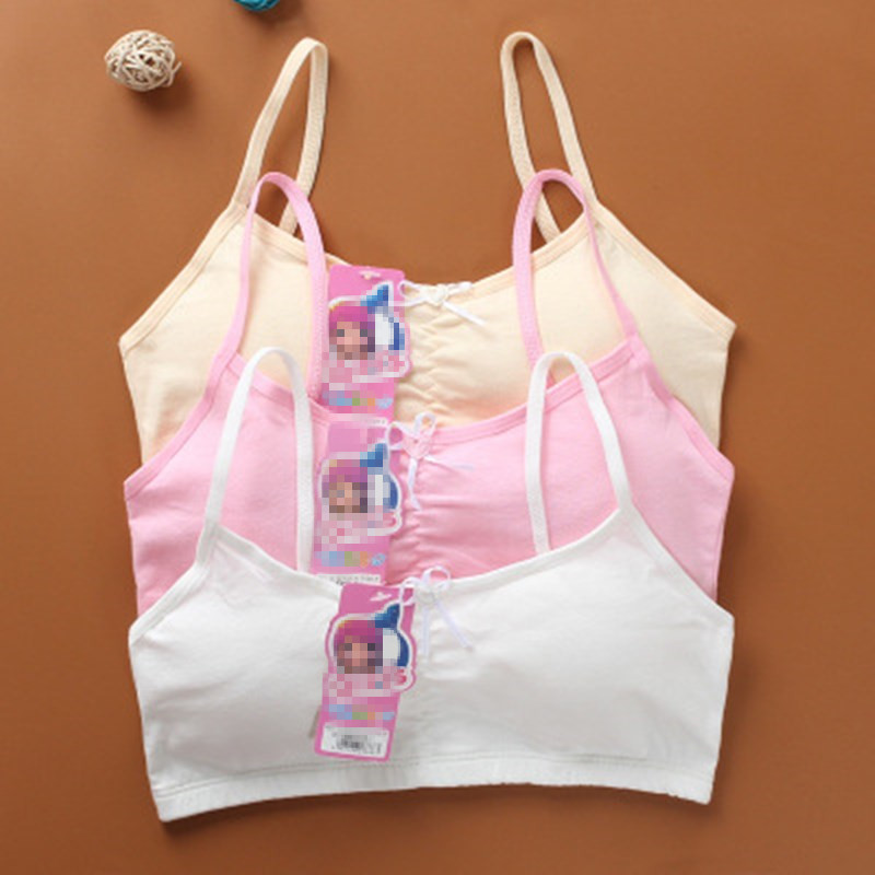 Top Underwear Vest Camisoles Training Girl Teens Lace Cotton for Printing