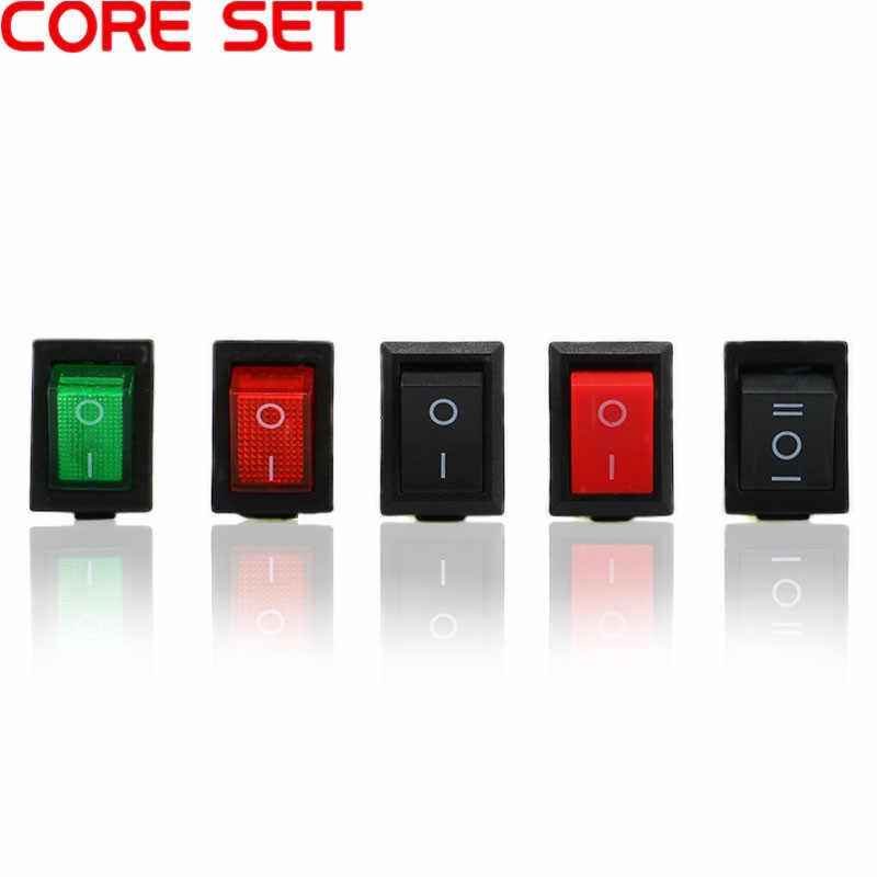 1 個 KCD1 2 PIin 3Pin 4Pin 6Pin ボート車のロッカースイッチ 6A/10A 250 V/125 V AC 赤、緑、黒ボタン、最高価格 KCD1