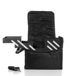 Image 3 - 새로운 어깨 더블 오픈 멀티 레이어 전문 메이크업 케이스 네일 문신 메이크업 도구 스토리지 패키지 화장품 가방