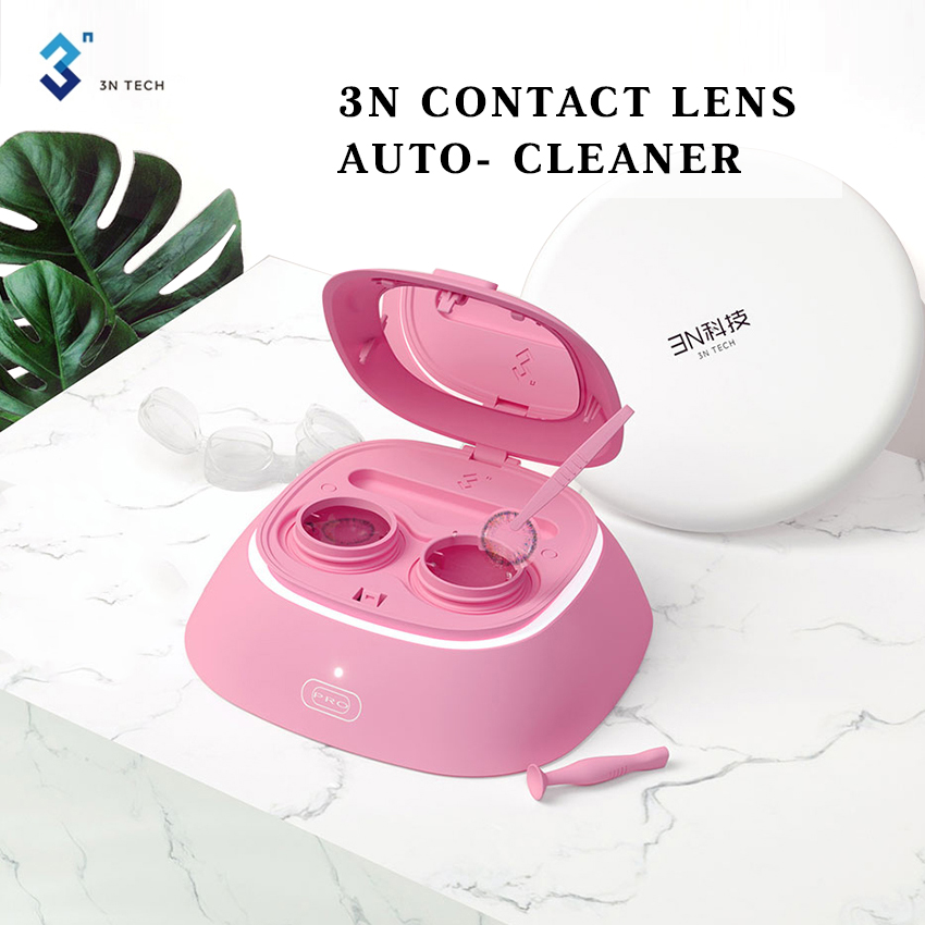 Electrical Contact Lenses Auto Cleaner Daily Care Portable Contact Lens Clean Device USB Charge Mute Eye Contacts Cleaning Case image
